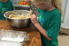 Making our favorite zucchini bread